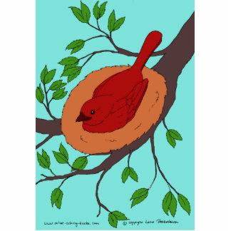 Red Bird's Nest Statuette