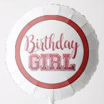 Red Birthday Girl Balloon