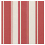 [ Thumbnail: Red & Bisque Colored Lined/Striped Pattern Fabric ]