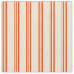 [ Thumbnail: Red & Bisque Colored Pattern Fabric ]