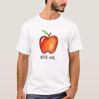 Red Bite Me Apple Apples Fun Fruit Tee Shirt