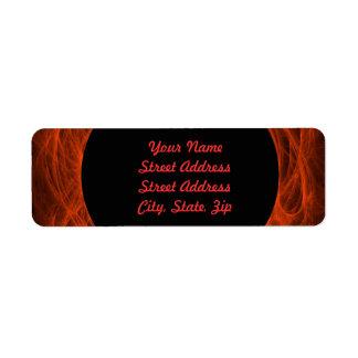 Red & Bl Fractal Background Return Address Sticker Return Address Label
