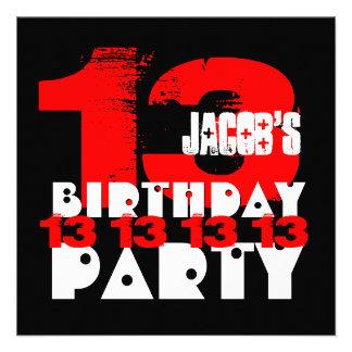 48 13 year old birthday invitations 13 year old birthday