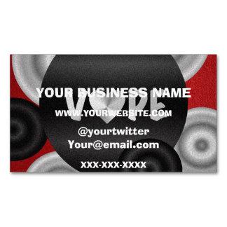 Red Black 3D Vape Business Card Magnet