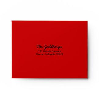 Red Black A2 Envelope