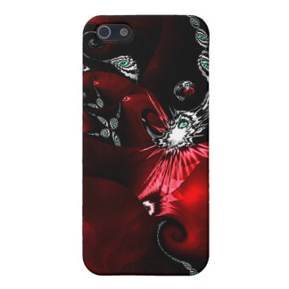 Red Black Abstract Art iPhone 5 Case
