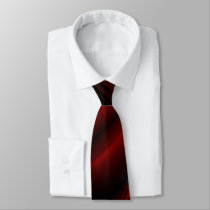 Red & Black Abstract Faded Stripes Neck Tie