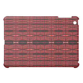 red black abstract pern case for the iPad mini