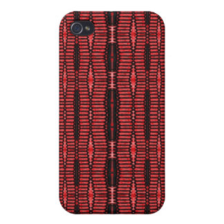 red black abstract pern iPhone 4/4S case