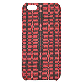 red black abstract pern iPhone 5C covers