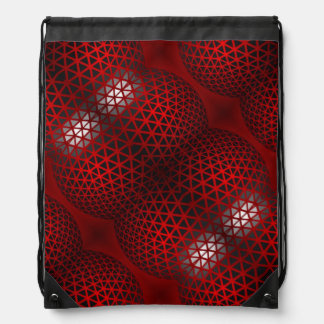Red Black Abstract Backpacks