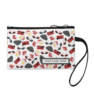 Red & Black Accessories Personalized Coin Purse