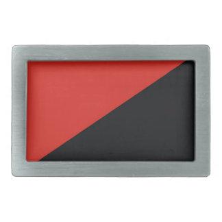 red black anarchy flag belt buckle