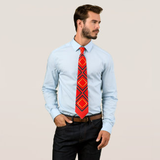 Red Black and Gold POWER Tie
