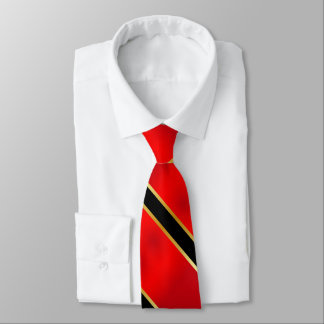 Red Black and Gold Stripes2 Tie