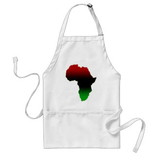 Red, Black and Green Africa Shape Adult Apron