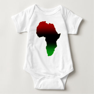 Red, Black and Green Africa Shape Baby Bodysuit