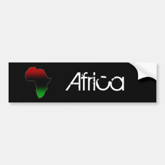 Red, Black and Green Africa Shape Car Bumper Sticker