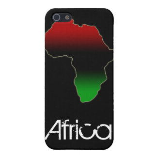 Red, Black and Green Africa Shape Cover For iPhone SE/5/5s