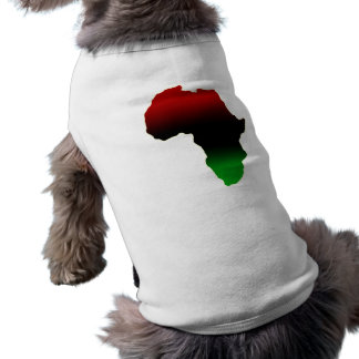 Red, Black and Green Africa Shape Dog Clothes