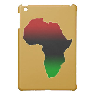 Red, Black and Green Africa Shape iPad Mini Cases
