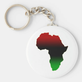 Red, Black and Green Africa Shape Keychains