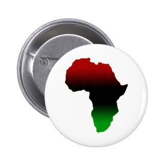 Red, Black and Green Africa Shape Pinback Button