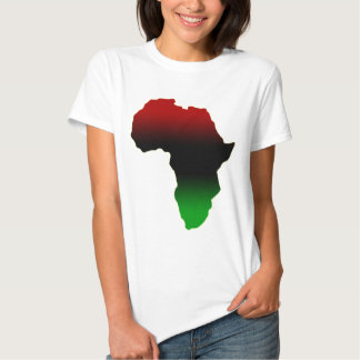 Red, Black and Green Africa Shape Tshirts