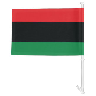 Red, Black and Green Flag