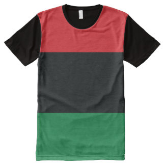 Red, Black and Green Flag All-Over-Print Shirt