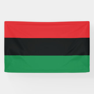 Red, Black and Green Flag Banner