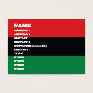 Red, Black and Green Flag Business Card