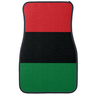 Red, Black and Green Flag Car Mat