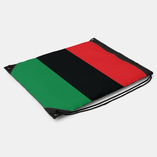 Red, Black and Green Flag Drawstring Backpack