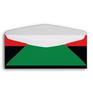 Red, Black and Green Flag Envelope