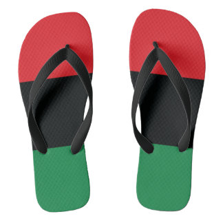 Red, Black and Green Flag Flip Flops
