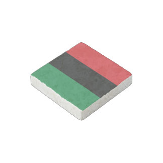Red, Black and Green Flag Stone Magnet