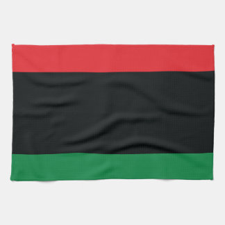 Red, Black and Green Flag Hand Towel