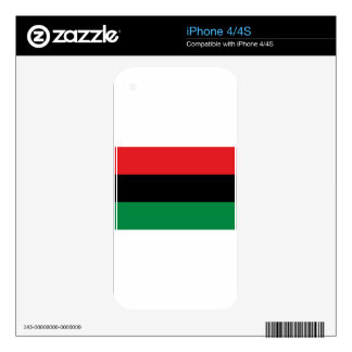 Red Black and Green Flag iPhone 4 Skin