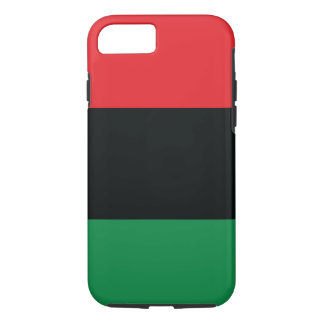 Red, Black and Green Flag iPhone 7 Case