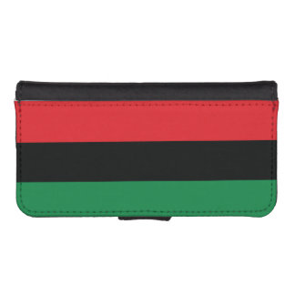 Red, Black and Green Flag iPhone SE/5/5s Wallet Case
