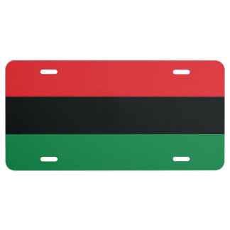 Red, Black and Green Flag License Plate
