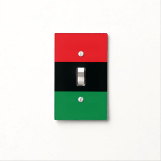 Red, Black and Green Flag Light Switch Cover