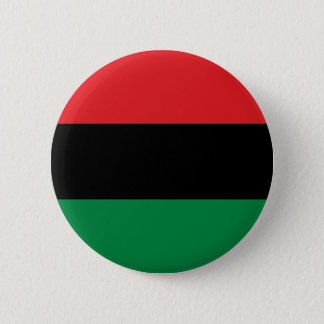 Red Black and Green Flag Pinback Button