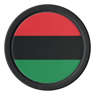 Red, Black and Green Flag Poker Chip Set