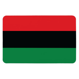 Red, Black and Green Flag Magnets