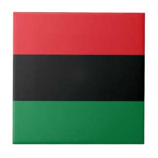 Red, Black and Green Flag Tile