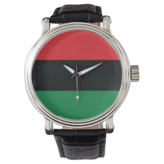 Red, Black and Green Flag Watch