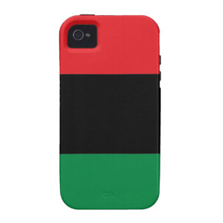 Red Black and Green Pan-African UNIA flag Case-Mate iPhone 4 Cover