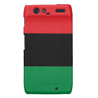 Red Black and Green Pan-African UNIA flag Droid RAZR Cover